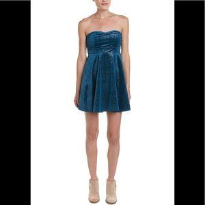 NWT Free People Shattered Velvet mini dress Sz XS